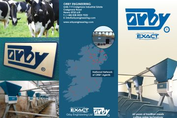 leaflet containing information on Orby Engineering Dairy Parlour Feeding Systems_Choice of pneumatic and electronic controls